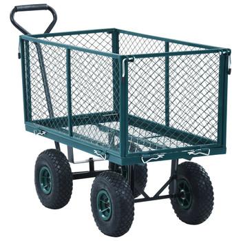vidaXL Vrtna ručna kolica zelena 350 kg