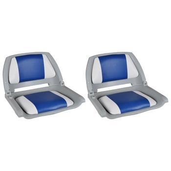 vidaXL Brodska sjedala sa sklopivim naslonom 2 kom 41 x 51 x 48 cm