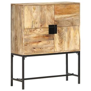 vidaXL Visoka komoda od masivnog drva manga 80 x 30 x 100 cm