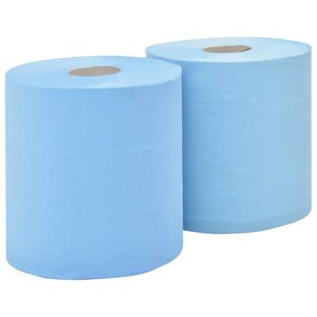 vidaXL 3-slojni industrijski papirnati brisač 2 role 38 cm
