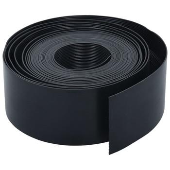 vidaXL Vrtna ivica crna 10 m 10 cm PE
