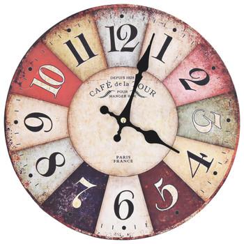 vidaXL Starinski zidni sat šareni 30 cm