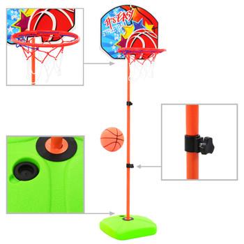 vidaXL Dječji set košarkaškog obruča i lopte