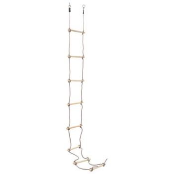 vidaXL Dječje ljestve od užeta 290 cm drvene