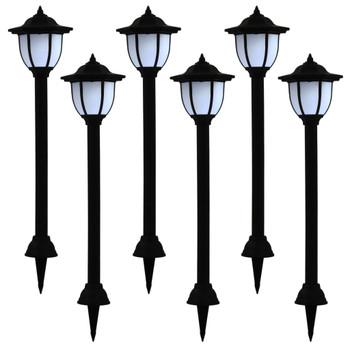 vidaXL Vrtne solarne svjetiljke 6 kom LED crne