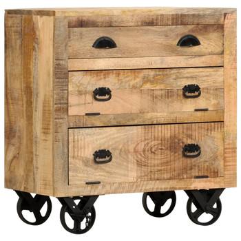 vidaXL Bočni ormarić s kotačima 70 x 40 x 75 cm od masivnog drva manga