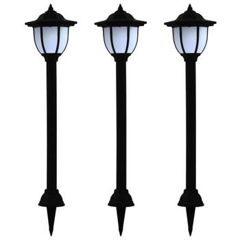 vidaXL Vrtne solarne svjetiljke 3 kom LED crne