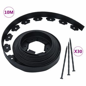 vidaXL Fleksibilni rubnjak za travnjak s 30 klinova 10 m 5 cm