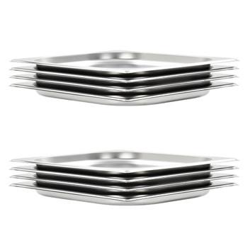 vidaXL Posude Gastronorm 8 kom GN 1/2 20 mm od nehrđajućeg čelika