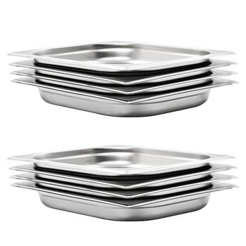 vidaXL Posude Gastronorm 8 kom GN 1/2 40 mm od nehrđajućeg čelika