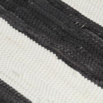 vidaXL Podmetači za stol 4 kom chindi prugasti antracit-bijeli 30x45 cm
