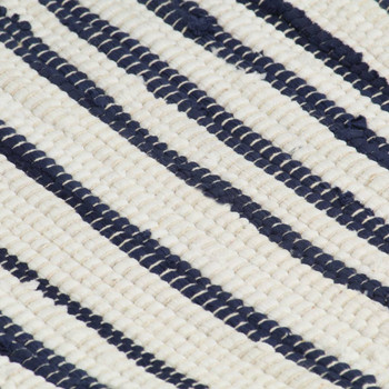 vidaXL Podmetači za stol 6 kom plavo-bijeli 30 x 45 cm pamučni
