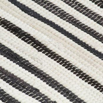 vidaXL Podmetači za stol 6 kom antracit-bijeli 30 x 45 cm pamučni