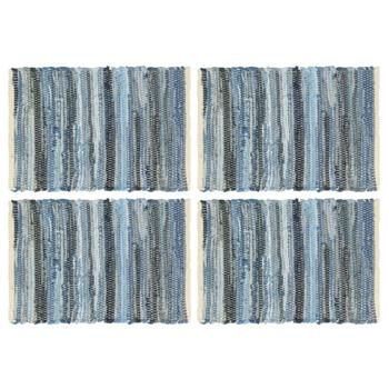 vidaXL Podmetači za stol 4 kom chindi traper plavi 30 x 45 cm pamučni