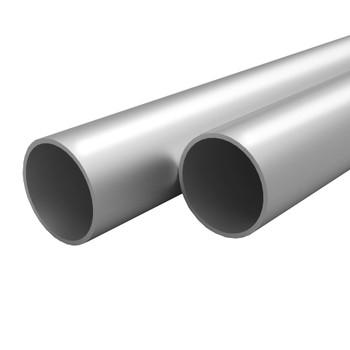 vidaXL Aluminijske cijevi 4 kom okrugle 1 m Ø 35 x 2 mm