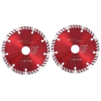 vidaXL Dijamantni diskovi za rezanje 2 kom turbo čelični 125 mm