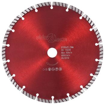 vidaXL Dijamantni disk za rezanje s turbo segmentima čelični 230 mm