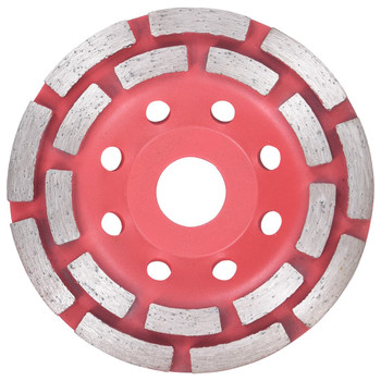 vidaXL Dijamantni brusni kotač u obliku šalice s dva reda 115 mm