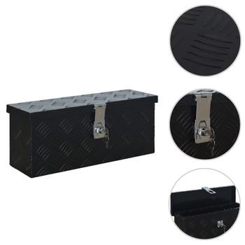 vidaXL Aluminijska kutija 485 x 140 x 200 mm crna