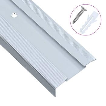 vidaXL Rubnjaci za stepenice L-oblik 15 kom aluminijski 100 cm srebrni