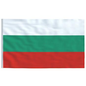 vidaXL Bugarska zastava 90 x 150 cm
