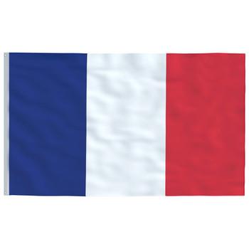 vidaXL Francuska zastava 90 x 150 cm
