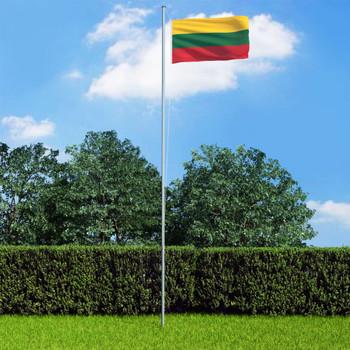 vidaXL Litavska zastava 90 x 150 cm