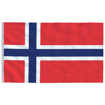 vidaXL Norveška zastava 90 x 150 cm