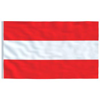 vidaXL Austrijska zastava 90 x 150 cm