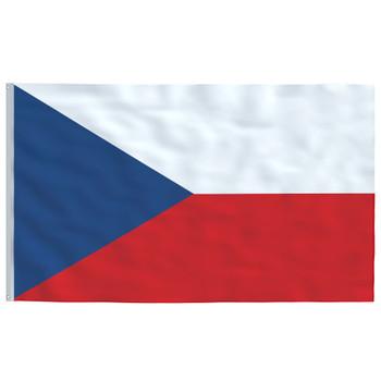 vidaXL Češka zastava 90 x 150 cm