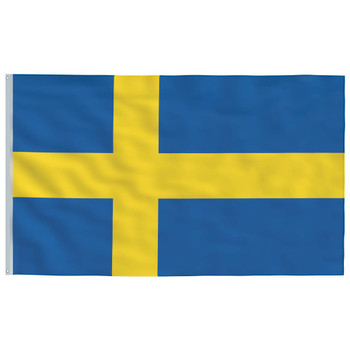 vidaXL Švedska zastava 90 x 150 cm