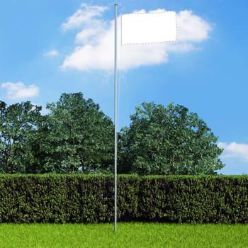 vidaXL Višedijelni stup za zastavu aluminijski 6,2 m