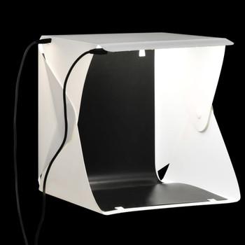 vidaXL Sklopiva studijska LED rasvjetna kutija 23 x 25 x 25 cm bijela