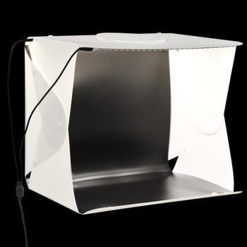 vidaXL Sklopiva studijska LED rasvjetna kutija 40 x 34 x 37 cm bijela