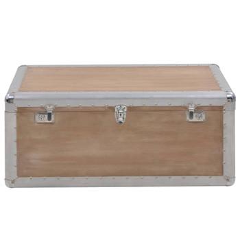 vidaXL Kutija za pohranu od masivne jelovine 91 x 52 x 40 cm smeđa