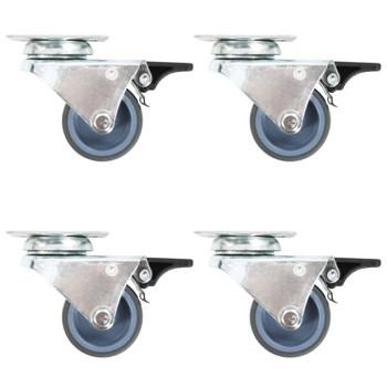 vidaXL Udvojeni okretni kotačići 8 kom 50 mm