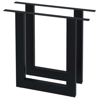 vidaXL Noge za blagovaonski stol 2 kom u obliku slova O 80 x 72 cm