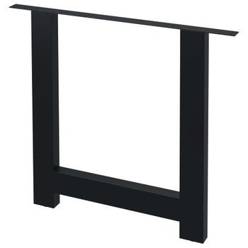 vidaXL Noge za blagovaonski stol 2 kom u obliku slova H 80 x 72 cm