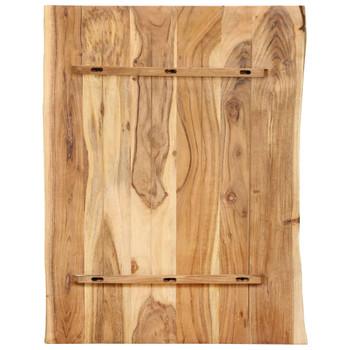 vidaXL Stolna ploča od masivnog bagremovog drva 80 x 60 x 2,5 cm