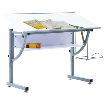 vidaXL Crtaći stol za tinejdžere bijeli 110 x 60 x 87 cm MDF