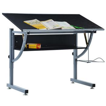 vidaXL Crtaći stol za tinejdžere crni 110 x 60 x 87 cm MDF