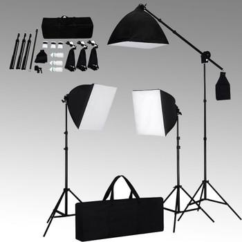 vidaXL Oprema za studio sa svjetlima softbox i pozadinama