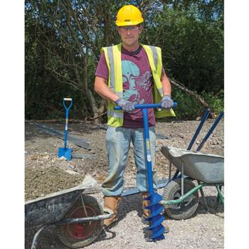 Draper Tools bušač rupa za stupove sa svrdlom 1070 x 155 mm plavi