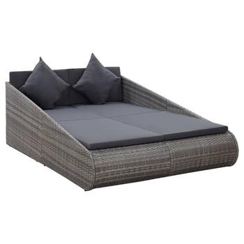 vidaXL Vrtni krevet sivi 200 x 139 cm od poliratana