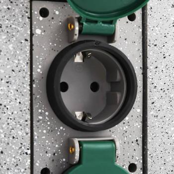 vidaXL Vrtne utičnice na stupu sa senzorom sumraka plastične