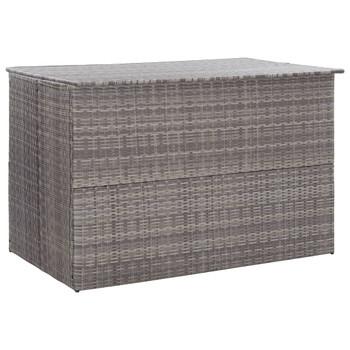 vidaXL Vrtna kutija za pohranu siva 150 x 100 x 100 cm od poliratana