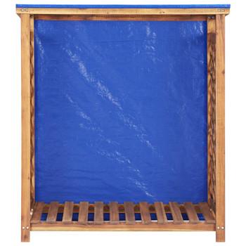 vidaXL Spremište za drva za ogrjev 105 x 38 x 118 cm bagremovo drvo