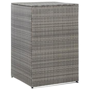 vidaXL Spremište za 1 kantu za smeće antracit 76x78x120 cm poliratan