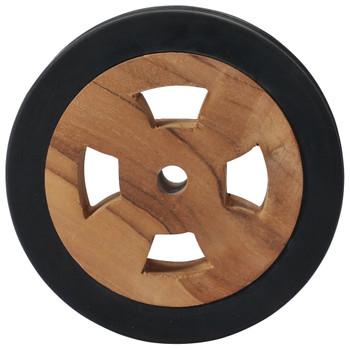vidaXL Rezervni kotači za ležaljku za sunčanje 2 kom masivna tikovina