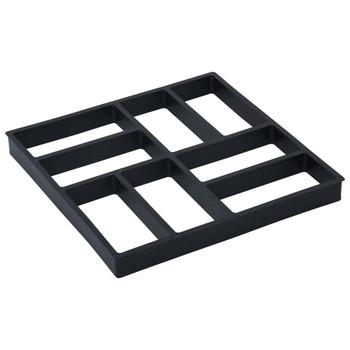 vidaXL Kalupi za pločnik 2 kom 40 x 40 x 4 cm plastični